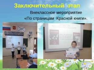 Заключительный этап Внеклассное мероприятие «По страницам Красной книги».