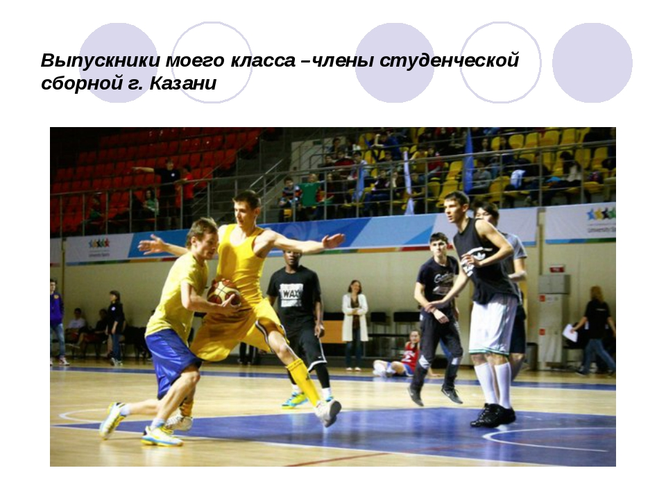 Выпускники моего класса –члены студенческой сборной г. Казани