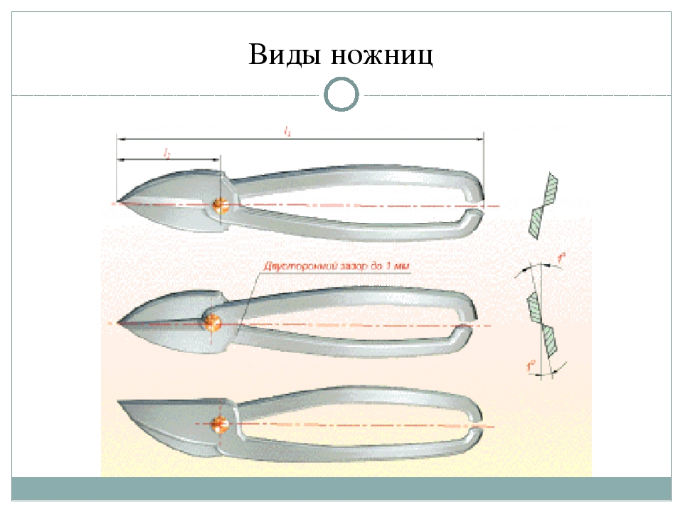 Виды ножниц