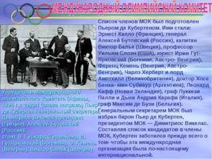Учредители Международного олимпийского комитета (Афины, 1896 г.): сидят (сле