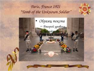 """Paris, France 1921 """"Tomb of the Unknown Soldier"""""""