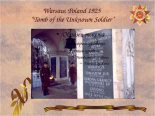 """Warsaw, Poland 1925 """"Tomb of the Unknown Soldier"""""""