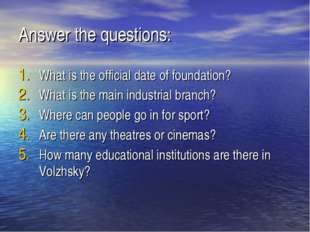 Answer the questions: What is the official date of foundation? What is the ma