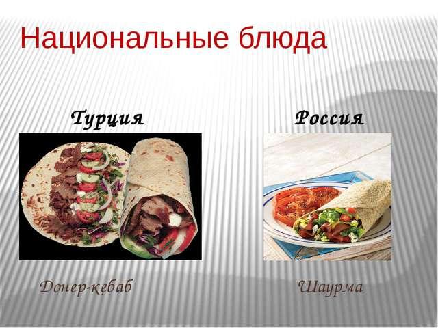 Национальные блюда Турция Россия Донер-кебаб Шаурма