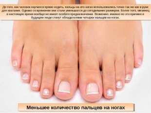 До того, как человек научился прямо ходить, пальцы на его ногах использовалис