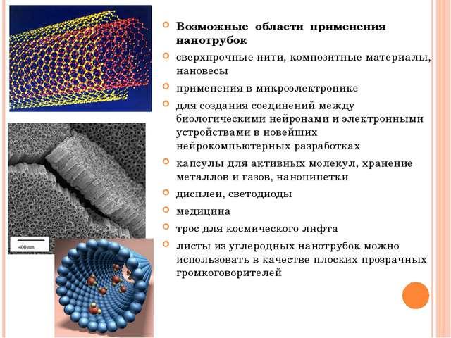 предлагаем углеродистые нанотрубки применение код удк носила около десятка
