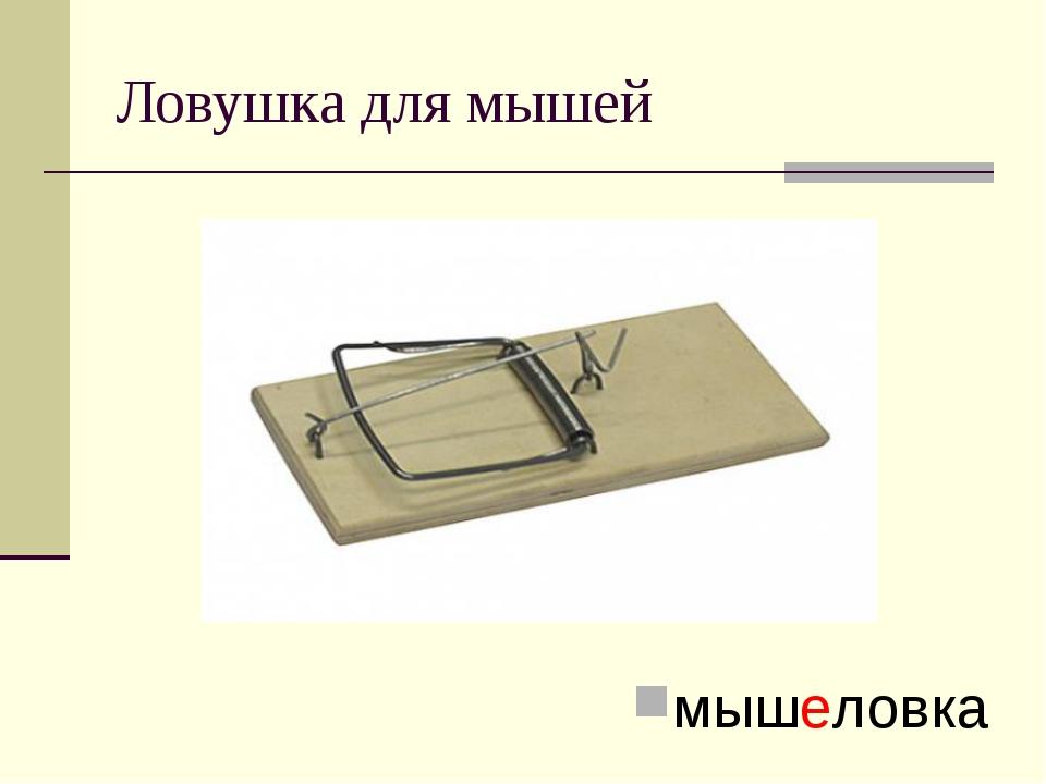Ловушка для мышей мышеловка