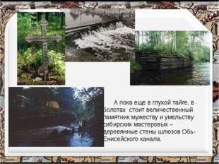 А пока еще в глухой тайге, в болотах стоит величественный памятник мужеству