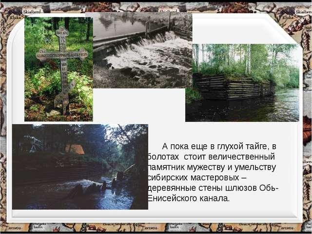А пока еще в глухой тайге, в болотах стоит величественный памятник мужеству...