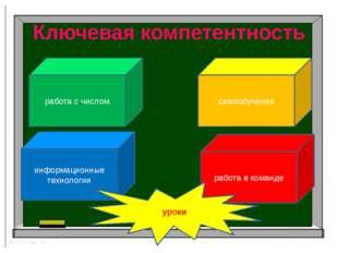 Ключевая компетентность работа с числом информационные технологии работа в ко
