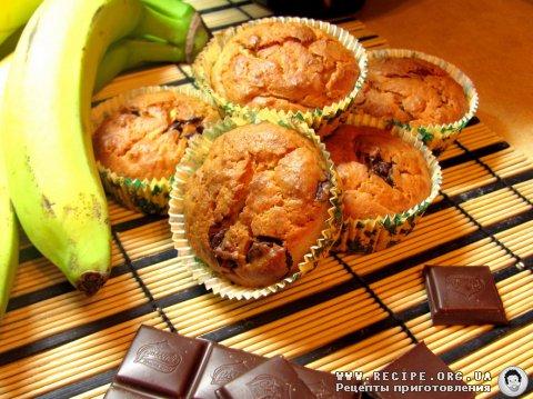 Рецепт Творожно-банановые маффины с фото