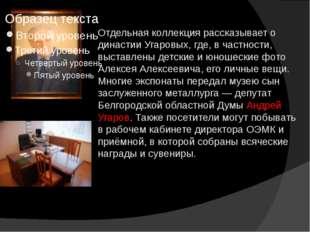 Отдельная коллекция рассказывает о династии Угаровых, где, в частности, выста