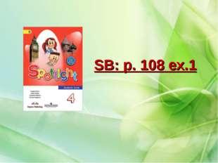 SB: p. 108 ex.1