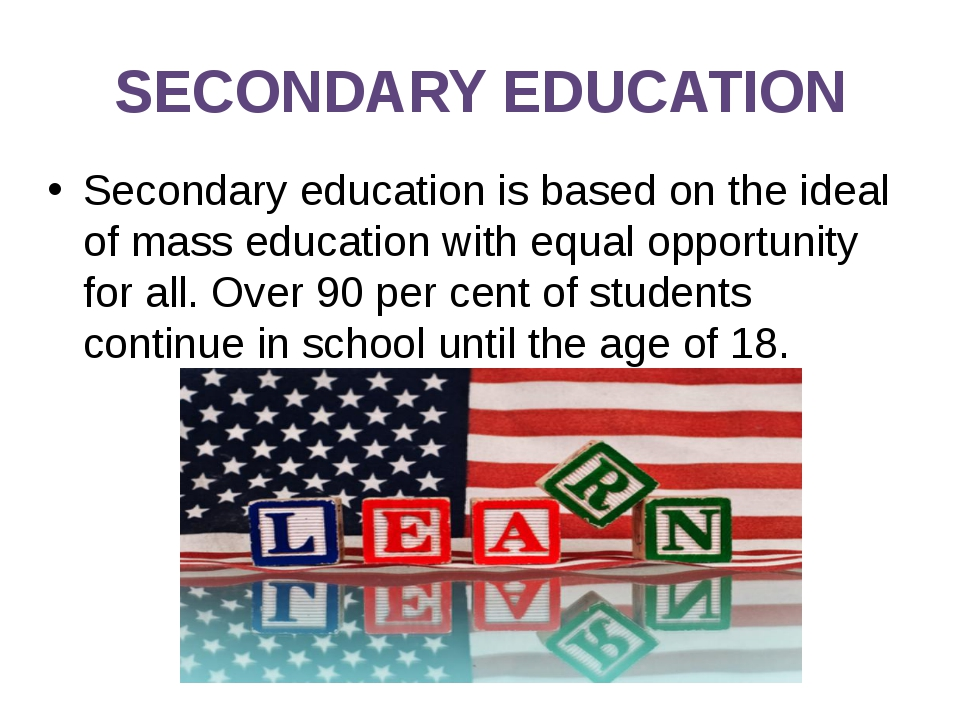 stages of education secondary school Some secondary schools can provide both lower secondary education and upper secondary education (levels 2 and 3 of the isced scale), but these can also be provided in separate schools, as in the american middle school- high school system.