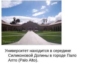 Университет находится в середине Силиконовой Долины в городе Пало Алто (Palo