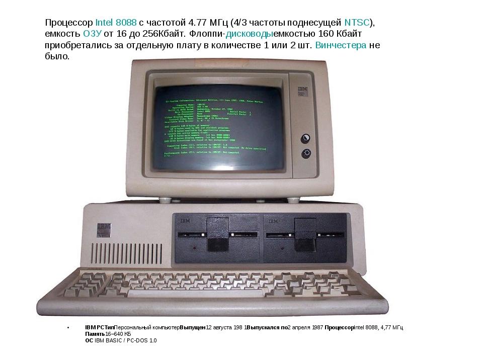 IBM PCТипПерсональный компьютерВыпущен12 августа 198 1Выпускалсяпо2 апреля 1...