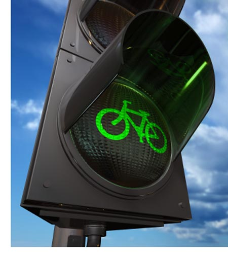 В Москве установят светофоры для велосипедов!