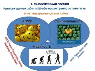 Критерии удачных работ на Шнобелевскую премию по психологии Юмор Оригинальнос