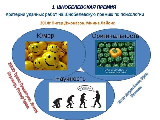 Критерии удачных работ на Шнобелевскую премию по психологии Юмор Оригинальнос...