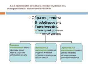Компетентность является сложным образованием, интегрированным результатом об
