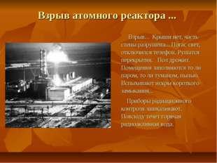 Взрыв атомного реактора ... Взрыв... Крыши нет, часть стены разрушена... Пога