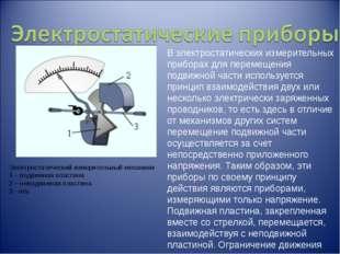 В электростатических измерительных приборах для перемещения подвижной части и