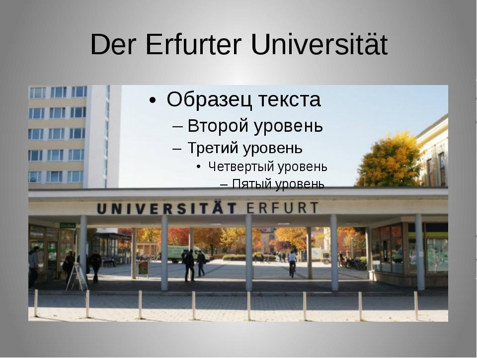 Der Erfurter Universität
