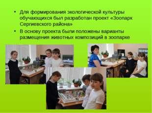 Для формирования экологической культуры обучающихся был разработан проект «З