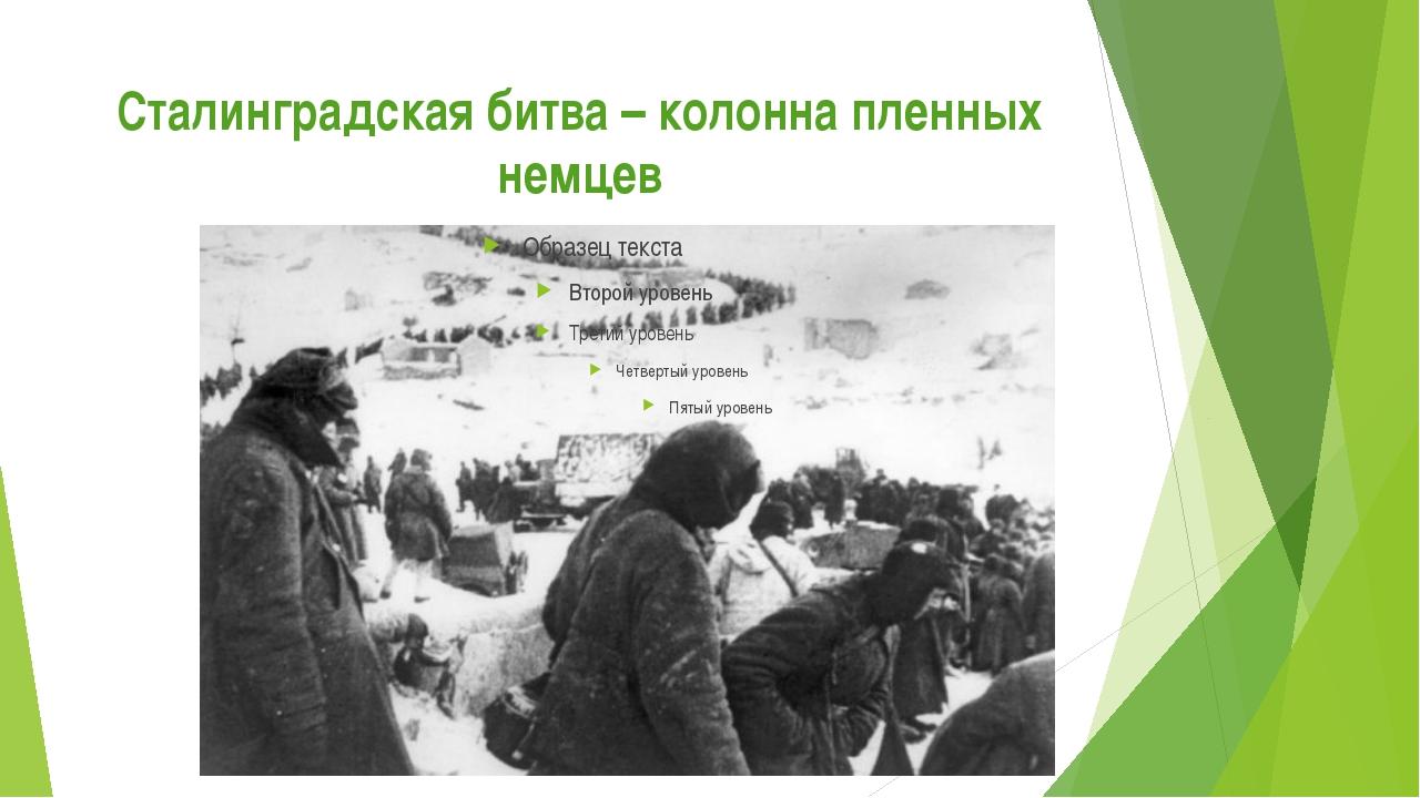 Сталинградская битва – колонна пленных немцев