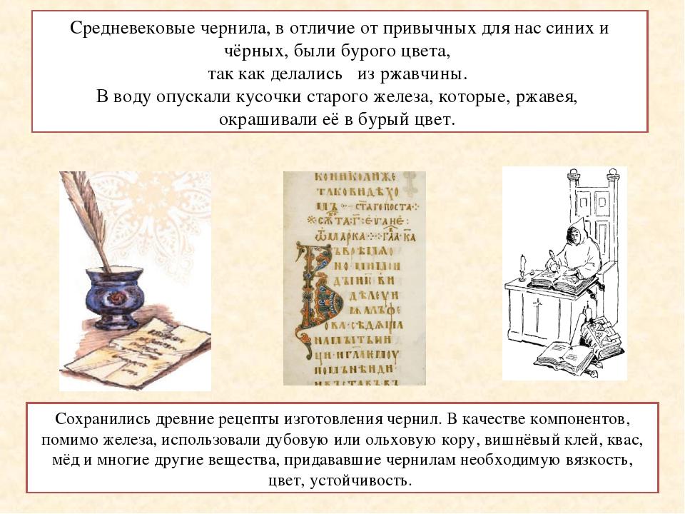Рецепт древних чернил