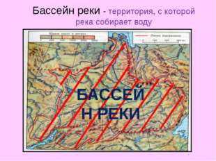 Бассейн реки - территория, с которой река собирает воду БАССЕЙН РЕКИ