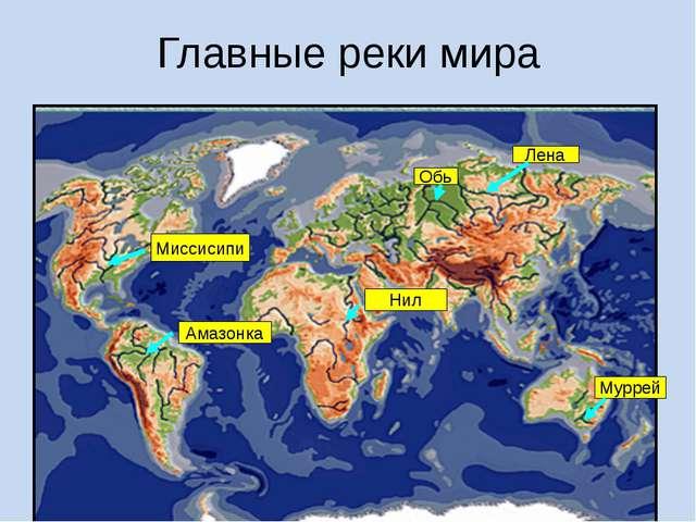 Главные реки мира Нил Амазонка Миссисипи Лена Муррей Обь