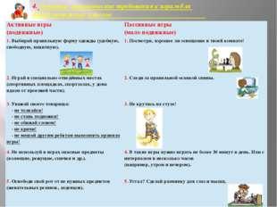4. Основные гигиенические требования к играм для детей начальных классов. Акт
