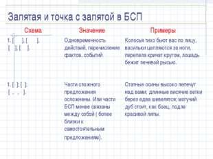 Запятая и точка с запятой в БСП Схема Значение Примеры 1. [ ], [ ], [ ], [
