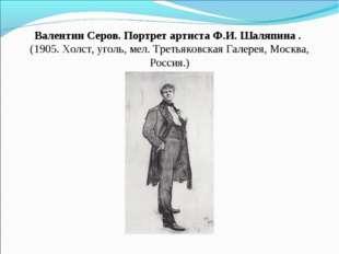 Валентин Серов. Портрет артистаФ.И. Шаляпина . (1905. Холст, уголь, мел. Тр