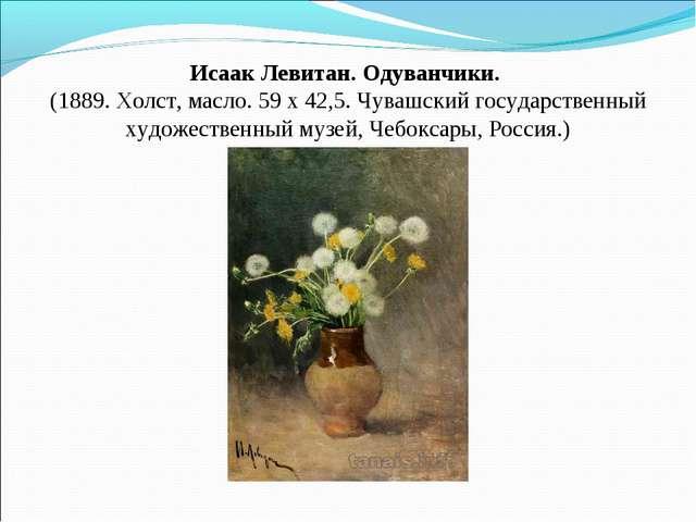 Исаак Левитан. Одуванчики. (1889. Холст, масло. 59 x 42,5. Чувашский государ...
