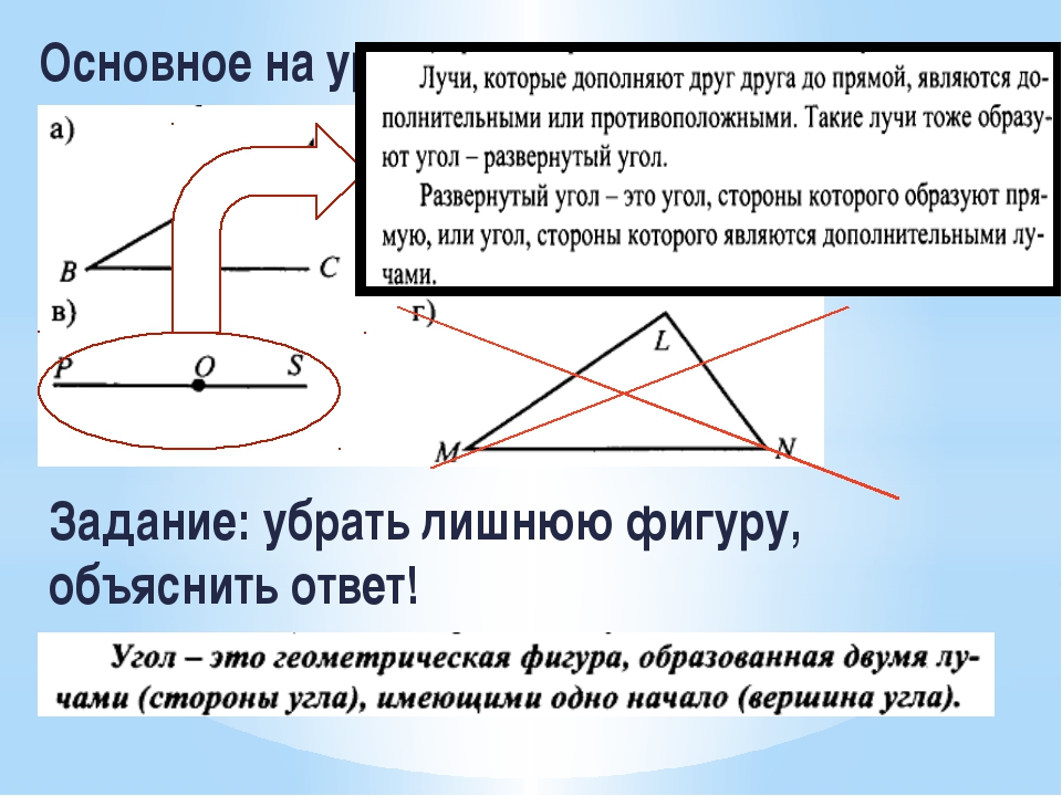 Основное на уроке! Задание: убрать лишнюю фигуру, объяснить ответ!