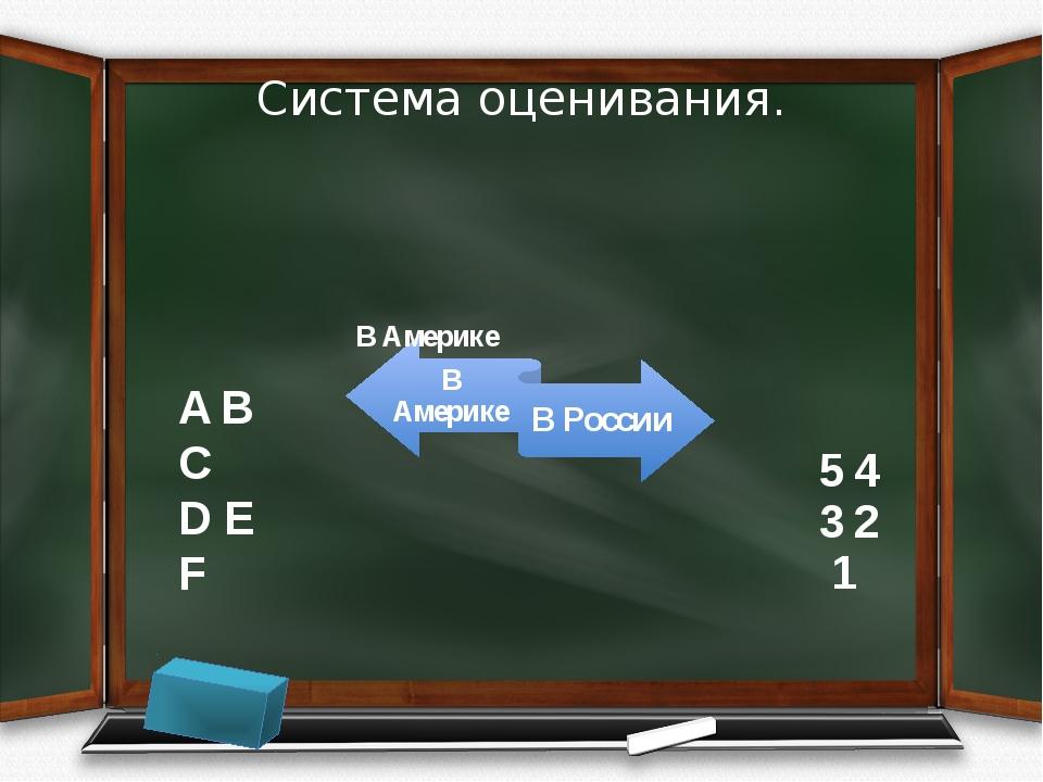 Система оценивания. A B C D E F 5 4 3 2 1