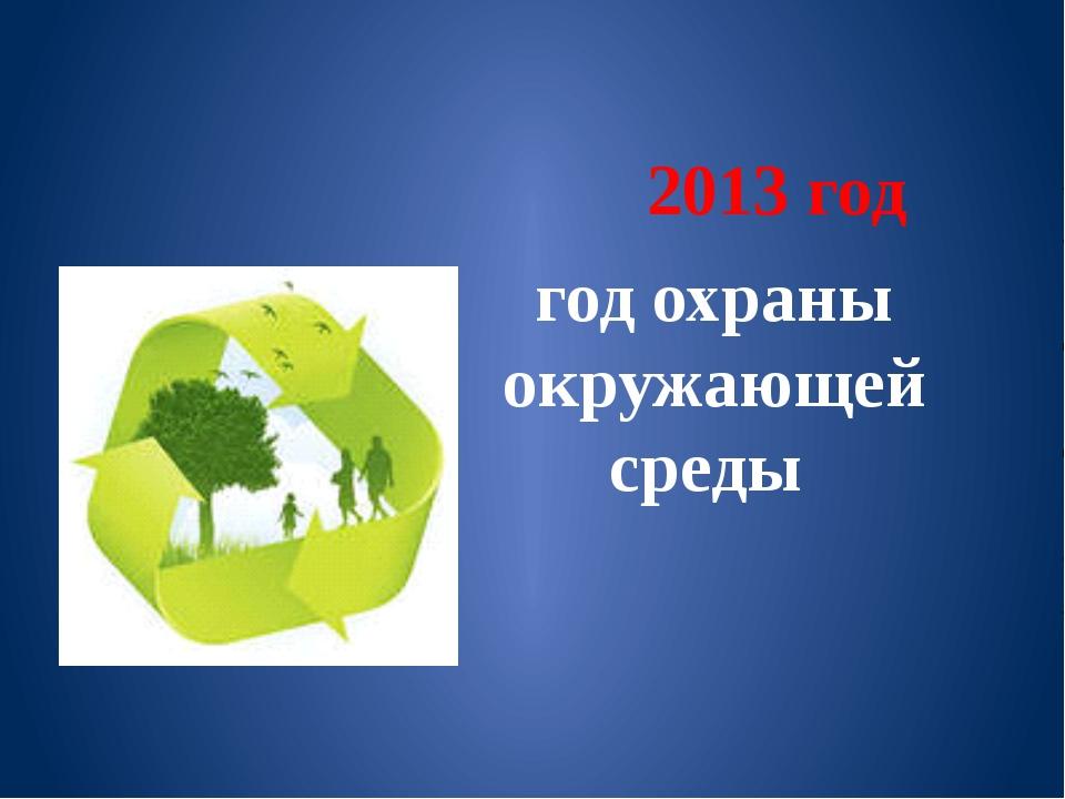 2013 год год охраны окружающей среды