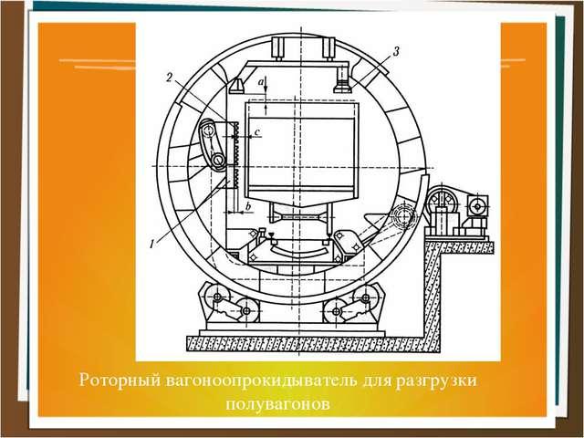 Роторный вагоноопрокидыватель для разгрузки полувагонов