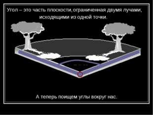 Угол – это часть плоскости, ограниченная двумя лучами, исходящими из одной то