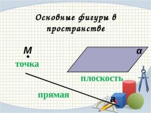 Аксиома 1. Через любые три точки, не лежащие на одной прямой, проходит плоск