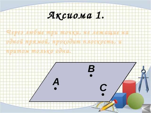Аксиома 3. Если две плоскости имеют общую точку, то они имеют общую прямую,...