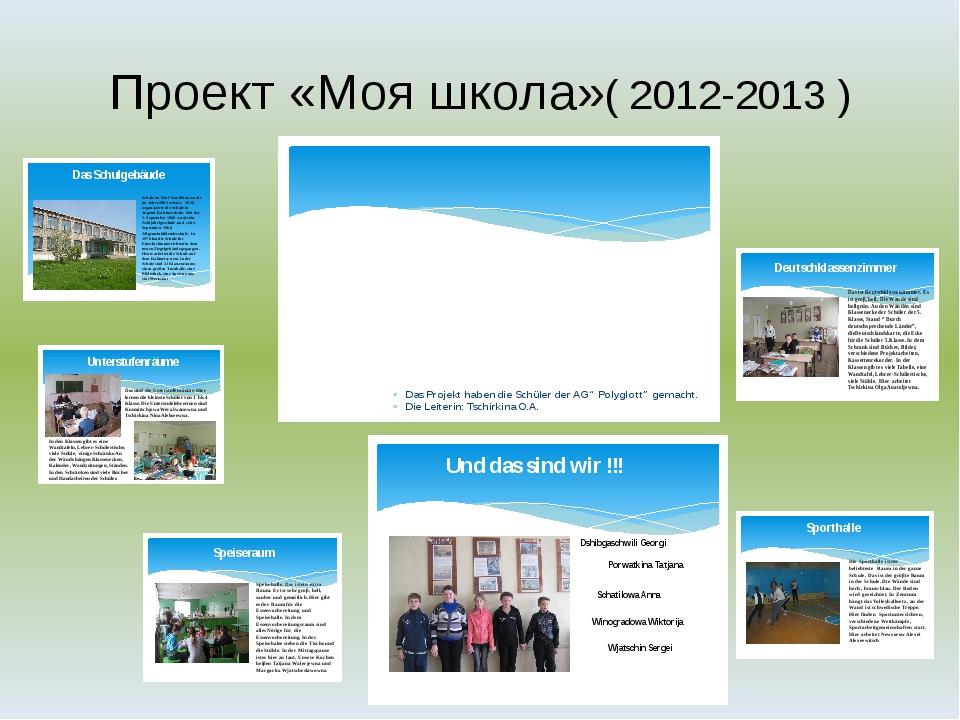 Проект «Моя школа»( 2012-2013 )