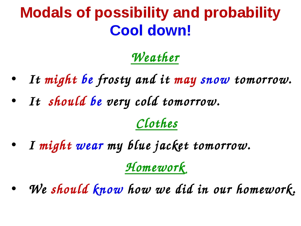 Weather It might be frosty and it may snow tomorrow. It should be very cold t...