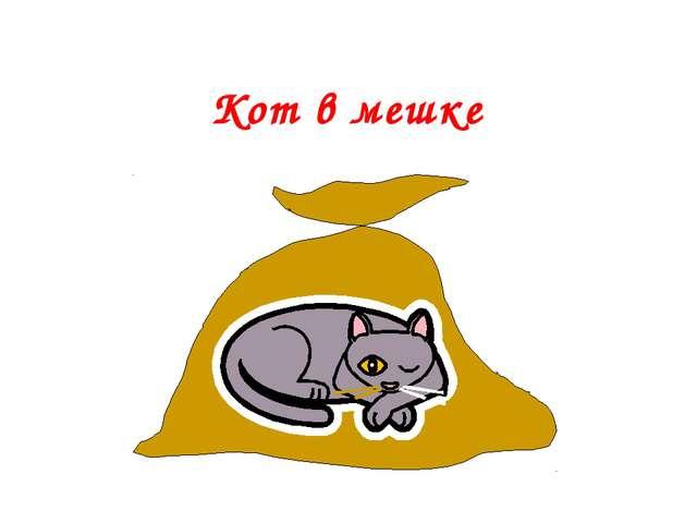 Кот в мешке