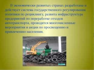 В экономически развитых странах разработана и действует система государствен