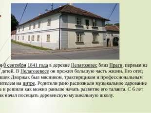 Родился8 сентября1841 годав деревнеНелагозевесблизПраги, первым из вос