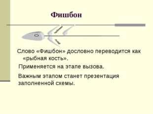Фишбон Применяется на этапе вызова. Слово «Фишбон» дословно переводится как