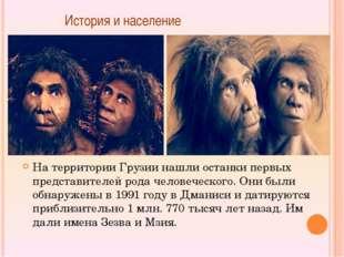 История и население На территории Грузии нашли останки первых представителей